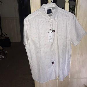 Denim and flower NWT shirt